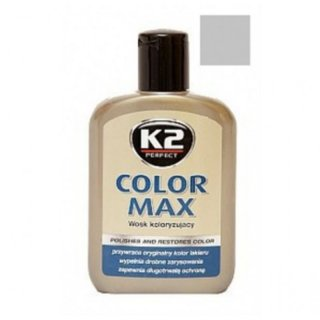 Color Max Colored Wax with Carnauba 200ml Grey