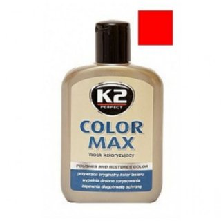 Color max Farbwachs mit Carnauba, 200ml rot