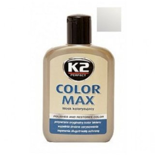 Color Max Colored Wax with Carnauba 200ml Silver